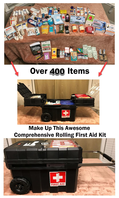Comprehensive Rolling First Aid Kit 400 Item - Preparedness Kits