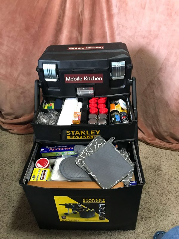 Mobile Emergency Kitchen Chuck Box - Preparedness Kits (4) - - Front Open 01