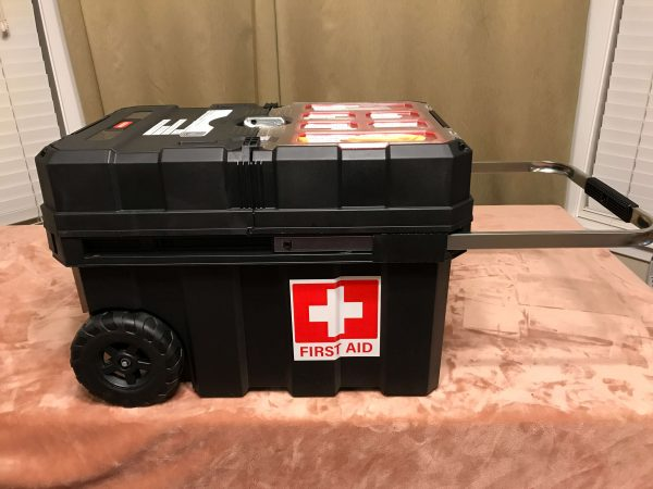 Rolling First Aid Kit with Pulling Handle