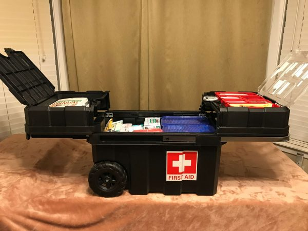 Open Rolling First Aid Kit