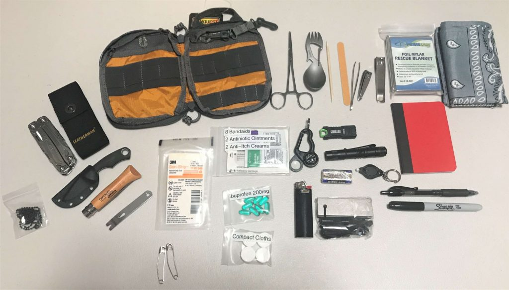 EDC Every Day Carry Kit - Preparedness Kits - Made to Order (6) - Contents