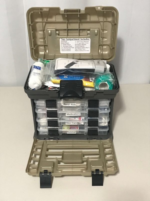 First Aid - Survival Carry Kit - Preparedness Kits (5) All Open