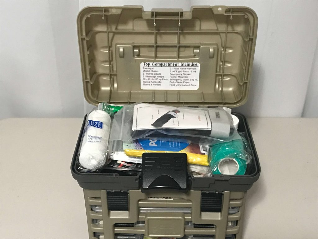First Aid - Survival Carry Kit - Preparedness Kits (9) Top Open