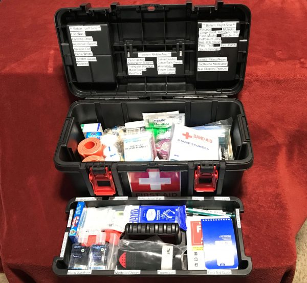 Toolbox First Aid Kit (11) - Open All