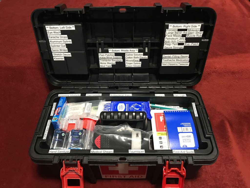 Toolbox First Aid Kit (6) - Open
