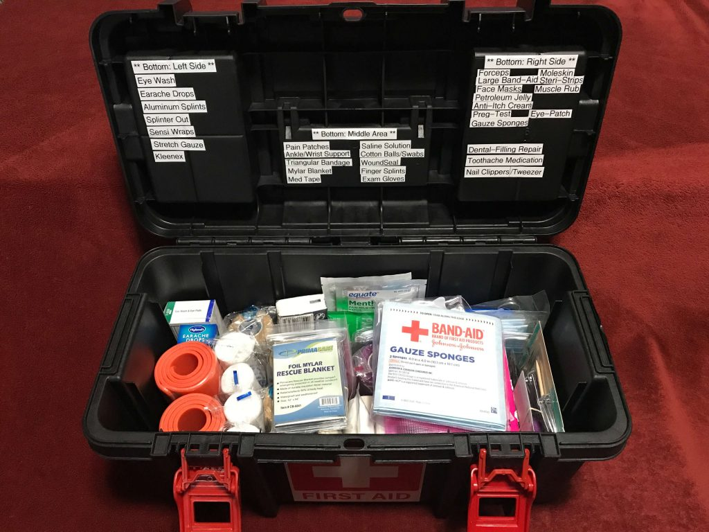 Toolbox First Aid Kit (9) - Open