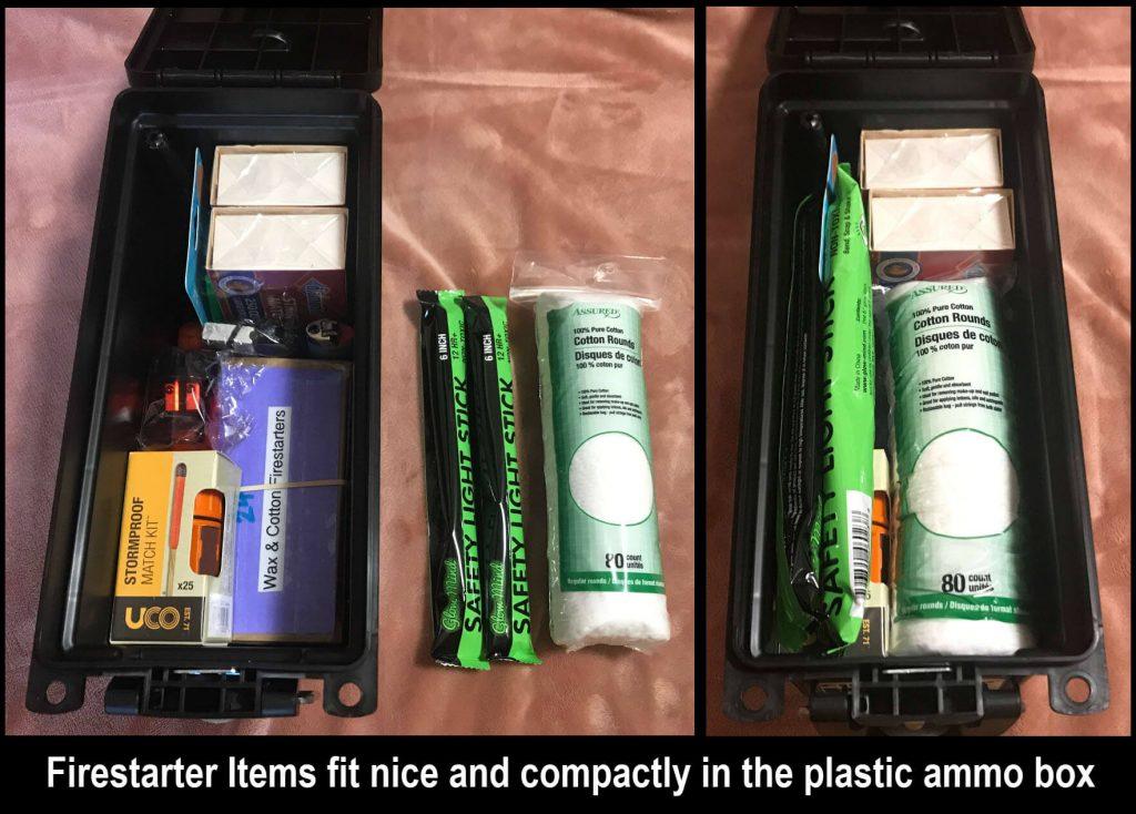 Firestarter Kit in Ammo Box - Contents Inside - Preparedness Kits